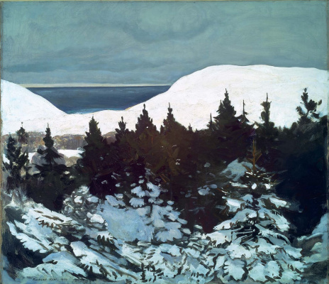 Rockwell Kent. The coast of Maine. Winter