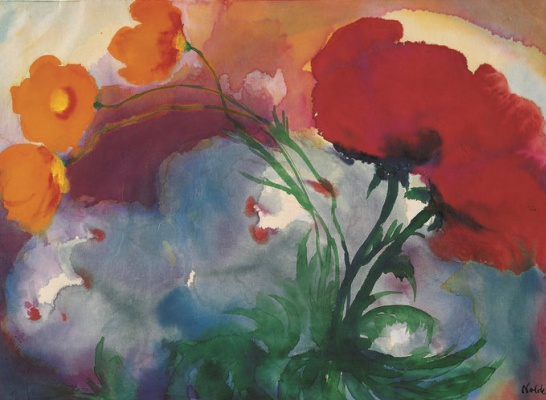 Emil Nolde. Red flowers