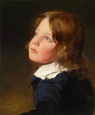 Фридрих фон Амерлинг. Брат художника Йозеф Амерлинг в детстве.1830