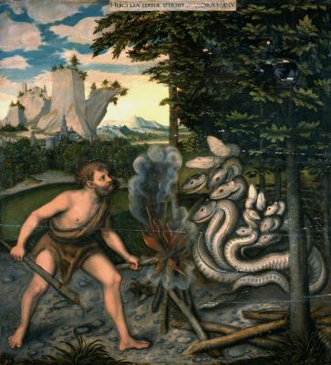 Lucas Cranach the Elder. Hercules and the Lernaean Hydra