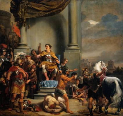 Ferdinand Baltasars Pain. Consul Titus of Manlius Torquatus ordered to behead his son