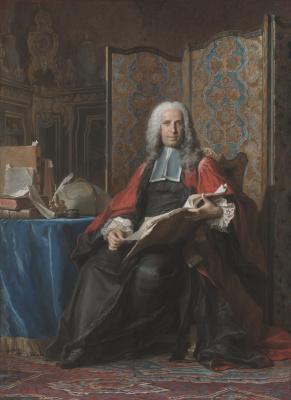 Морис Кантен де Латур. Портрет члена магистрата Габриэля Бернарда де Риё