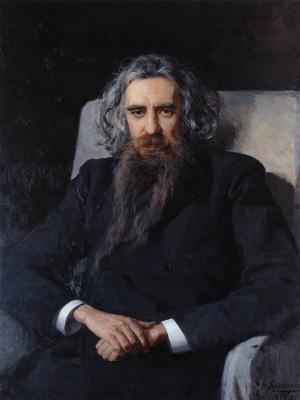 Nikolay Aleksandrovich Yaroshenko. Portrait of the philosopher and poet Vladimir Sergeevich Solovyov. 1895
