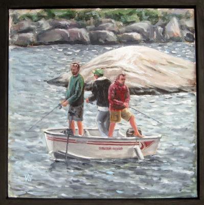 Vladimir Skvortsov. Three in a boat