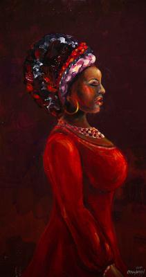 "Alla Struchayeva. Painting ""Diva at night"""
