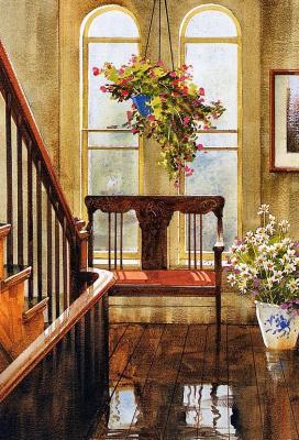 Пьер Тоугас. Цветы в окне