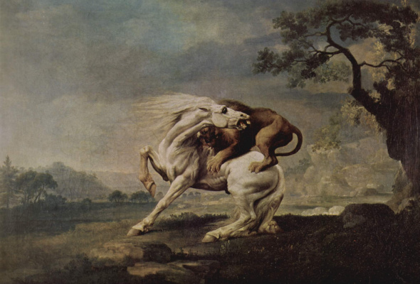 George Stubbs. Lion attacking a horse