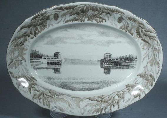 """Trifon Zakharovich Podryabinnikov. Dish """"Volga Channel"""""""