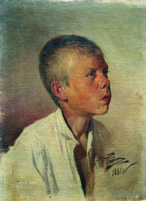Ilya Efimovich Repin. Portrait of a boy