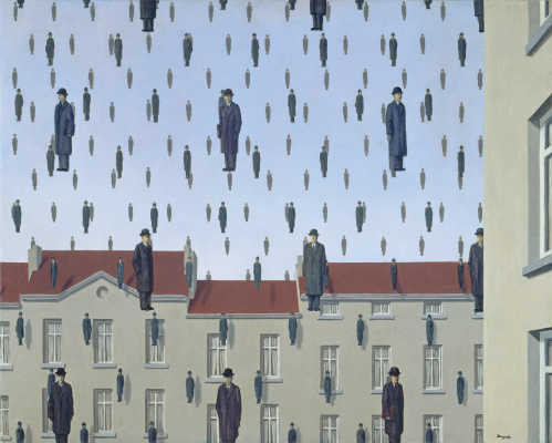 René Magritte. Golconda