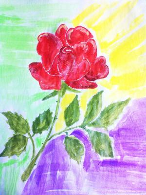 Irina Alexandrovna Sokolova. Red rose