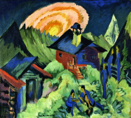 Ernst Ludwig Kirchner. Moon over mountain hut