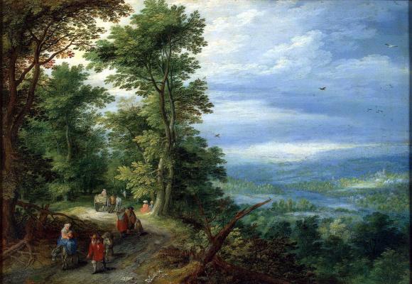 Jan Bruegel The Elder. The edge of the forest