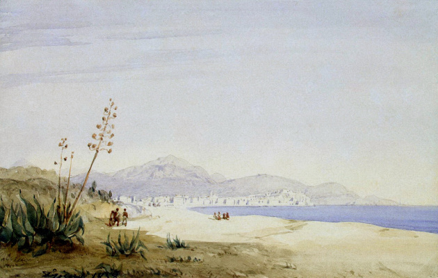 Joseph Frisero. The view of the Bay of Angels from the island of St. Helena
