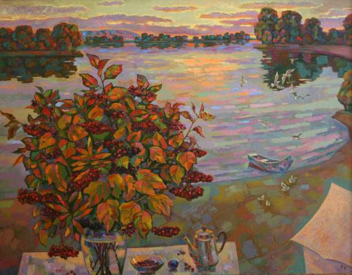 Vladimir Ivanovich Konev. Evening on the Volga