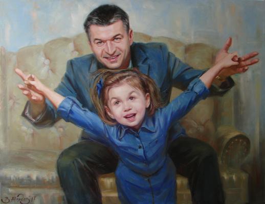 Виталий Викторович Жердев. Portrait of Konstantin and Ksyusha Ivanov