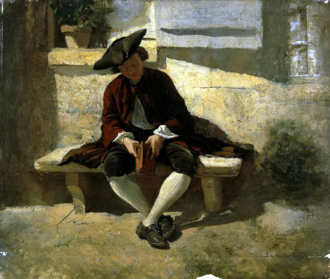 Jean Louis Ernest Meissonier. A young man with a book