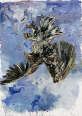 Картина пальцами. Орёл