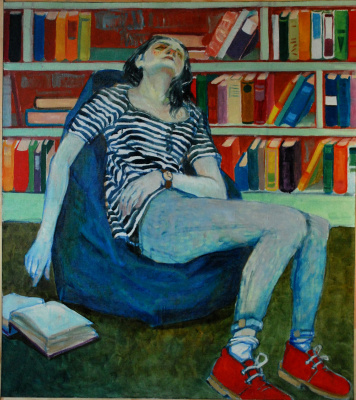 Anastasia Vermeer. Sleep in the library