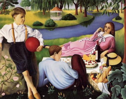 Лиана Дарбо. Пикник на траве