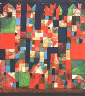 Paul Klee. The city with red and green accents