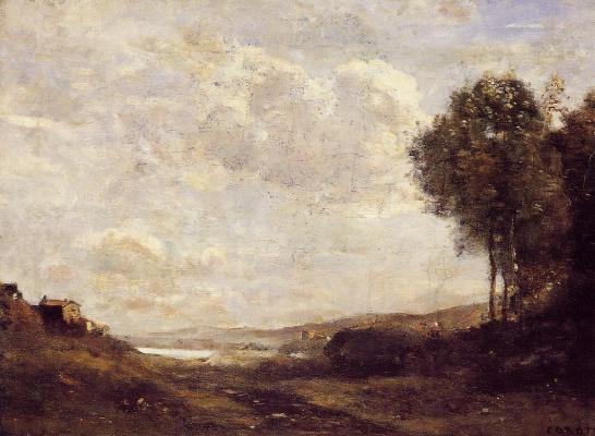 Камиль Коро. Пейзаж на берегу озера