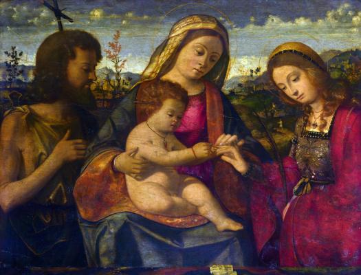 Андреа Превитали. Дева с младенцем и святыми