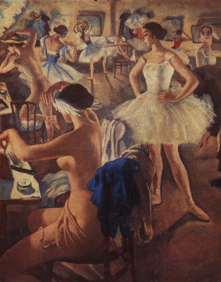 Zinaida Serebryakova. In the ballet dressing room (Swan lake)