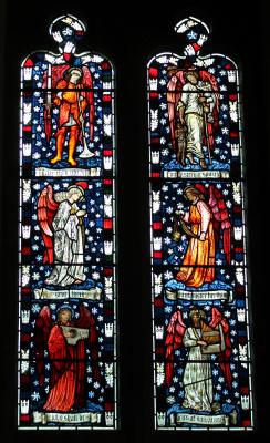 Уильям Моррис. Окно южной галереи церкви Святых Петра и Павла, Каттисток (соавторство с Эдвардом Бёрн-Джонсом)