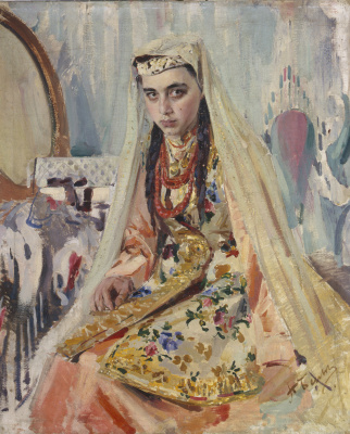 Pavel Petrovich Benkov. Portrait of Tatar Doomed bride