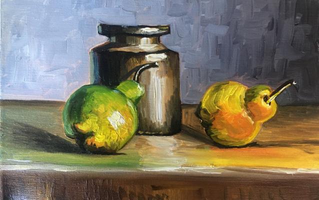 Ekaterina Bagrova. Still life with pears