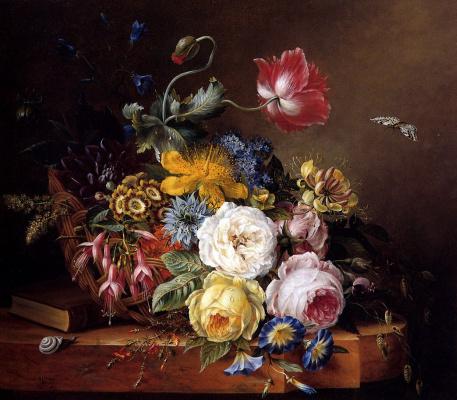Элизабет Конинг. Натюрморт с цветами