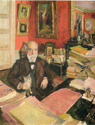 Jean Edouard Vuillard. Theodore Duret in his study