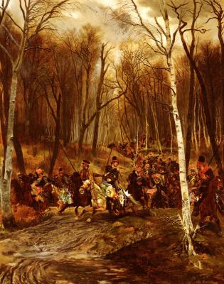 Жан Батист Эдуард Детай. Нападение на королевскую гвардию