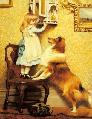 Чарльз Бертон Барбер. Маленькая девочка и ее собака