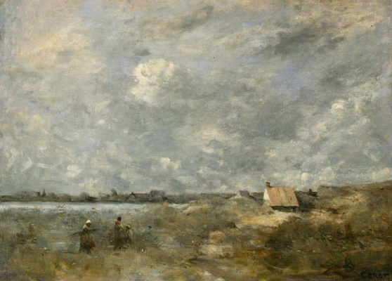 Camille Corot. The Stormy Weather. Pas de Calais