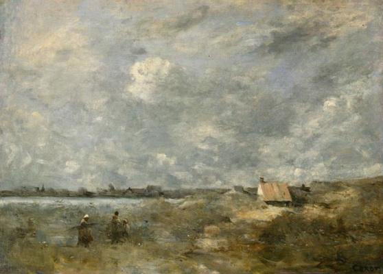 Camille Corot. Stormy weather. Pas-de-Calais