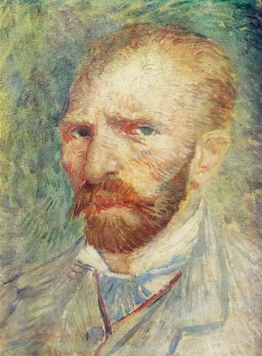 Vincent van Gogh. Self portrait (version 1887)