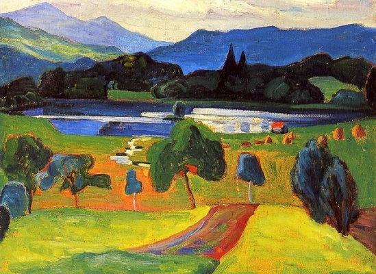 Gabriele Münter. Lake in the mountains