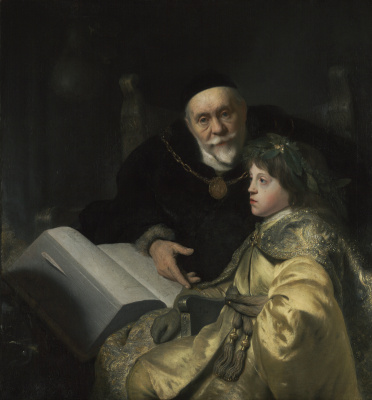 Jan Lievens. Prince Charles Louis of the Palatinate with his teacher Wallradar background Placenam