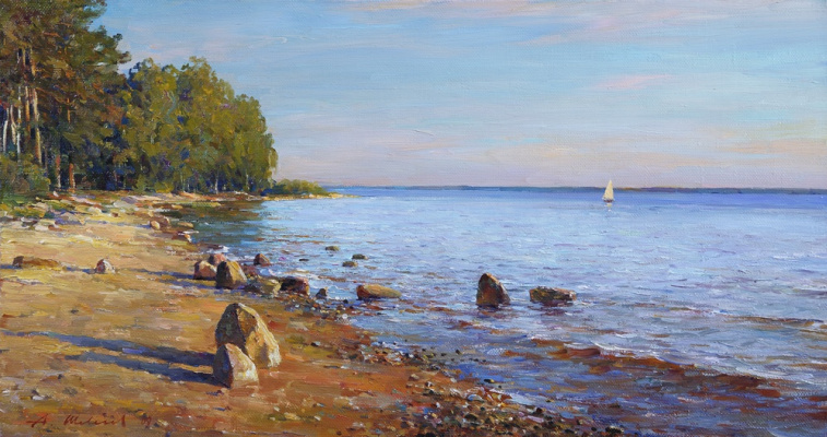 Alexander Victorovich Shevelyov. The shore of the Rybinsk sea