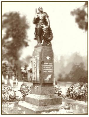 Федор Федорович Федоровский. Памятник Советским воинам