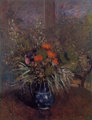 Alfred Sisley. A bouquet of flowers