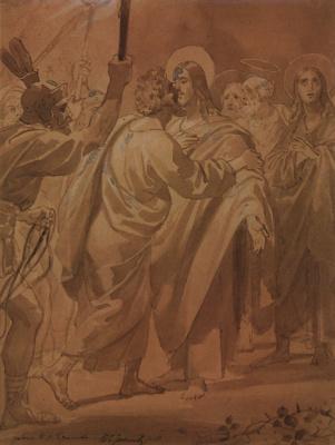 Карл Павлович Брюллов. Лобзание Иуды