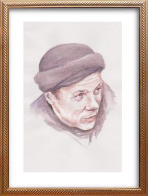 Ivan Alexandrovich Dolgorukov. Watercolor portrait of Junio Valerio Borghese