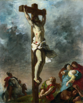 Eugene Delacroix. Christ on the cross