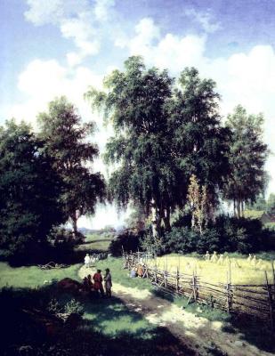 Валериан Константинович Каменев. Вид окрестностей города Гатчины