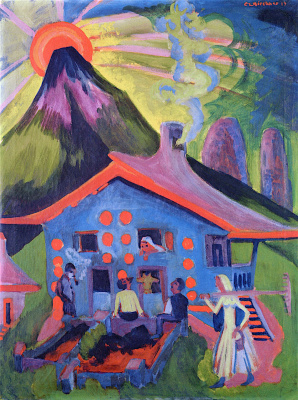 Ernst Ludwig Kirchner. House in the mountains