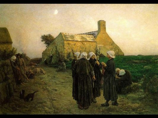 Жюль Бретон. Вечер в деревне Финистер