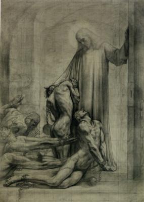 """Жан Дельвиль. Христианское Правосудие. Эскиз для цикла """"Правосудие"""""""